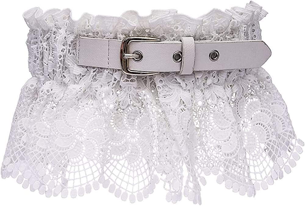 Fashion Women's Large-scale sale Elastic Vintage Lace Belt Retro Super sale period limited Waist Stretchy W