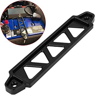 190MM Hole Black Aluminum Car Battery Tie Down Bracket Lock Mount Holder for Honda Civic EK EG 2002-2005