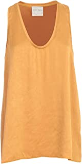 FORTE FORTE Luxury Fashion Womens 7051MYTOPORO Gold Tank Top | Spring Summer 20