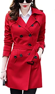 Best double breasted trench coat women's Reviews