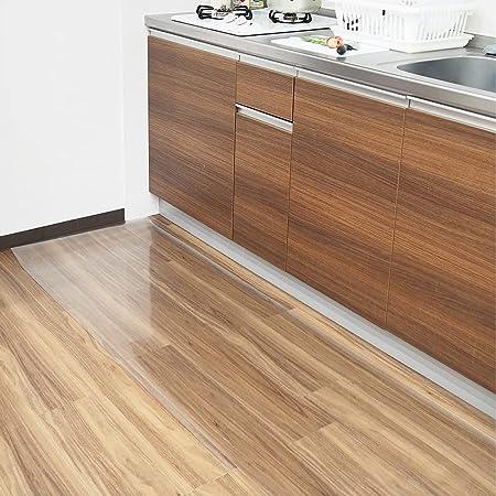 【拭くだけカンタンお手入れ】créer(クレエ) キッチンマット 240 拭ける 透明 240×60cm 厚さ1.5mm