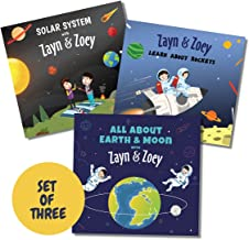 Zayn and Zoey Space Adventures -Set of 3 Books (Rockets, Solar System, Earth and Moon) - Educational Story Books for Kids...