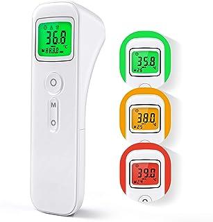 Termómetro Digital con Sensor Infrarrojo y Alarma de Fiebre Termómetro con 32 Memorias para Niños, Adultos