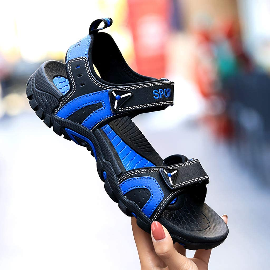 Heren Outdoor Sandalen, Open-Toe Arch ondersteuning Strap Water Sandals, lichtgewicht Sports Off-Road Sport Sandalen black blue