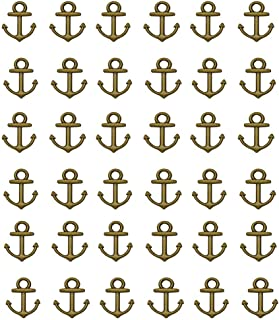 Youkwer 100pcs Mini 14x18mm Vintage Nautical Anchor Sign Metal Charms Pendants DIY Crafting Jewelry Making