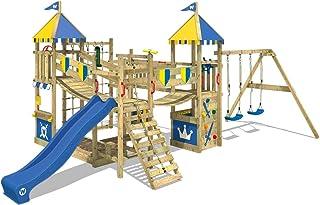 Parque infantil de madera con columpio y tobogán - WICKEY Smart Queen