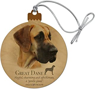 GRAPHICS & MORE Great Dane Dog Breed Wood Christmas Tree Holiday Ornament