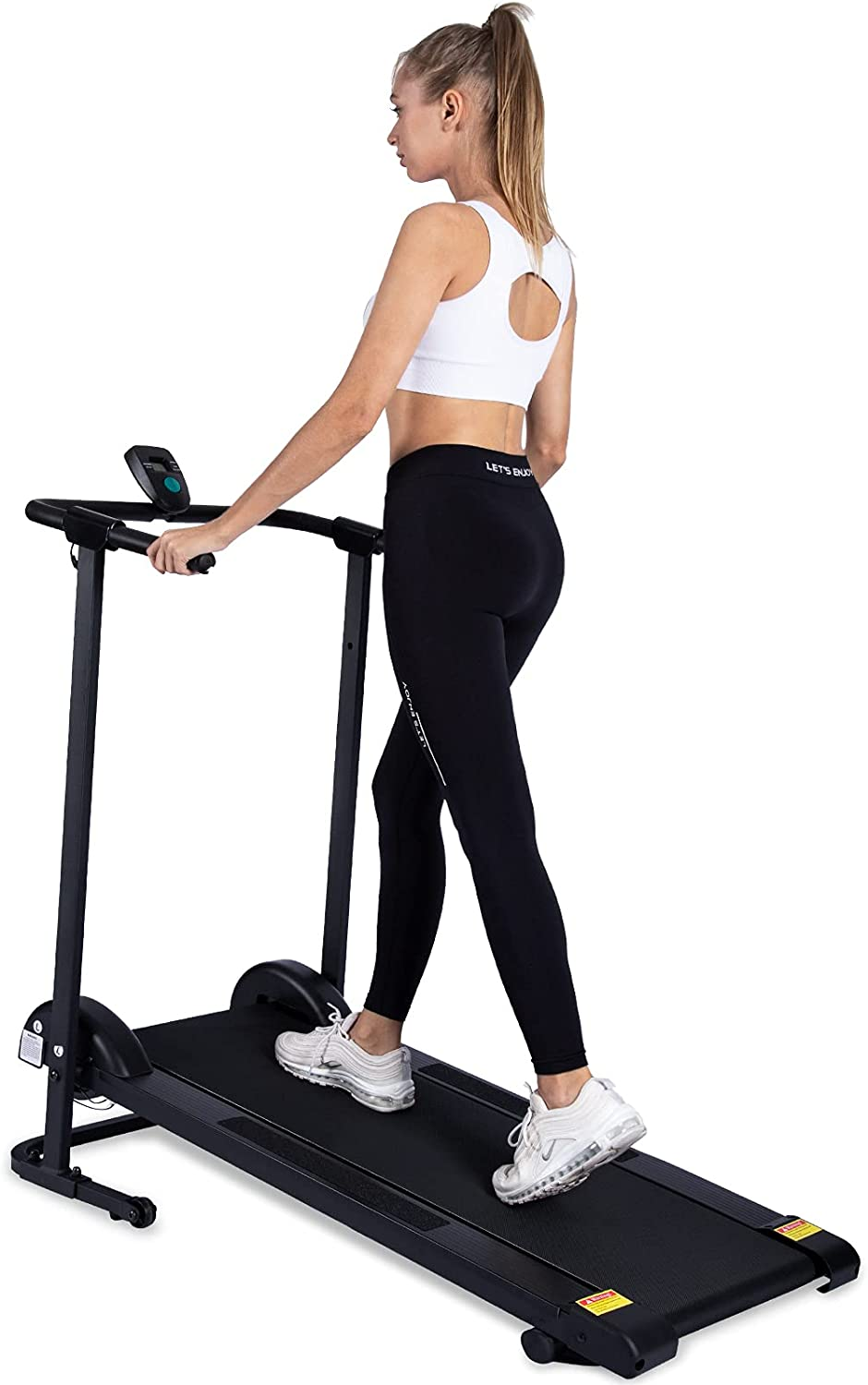 kotia Manual Treadmill Non Electric Treadmill with 10° Incline Small Foldable Treadmill for Apartment Home Walking Running (Mode GHN213)