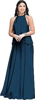 KOH KOH - Vestido largo sin mangas para mujer