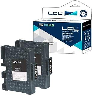 LCL Cartucho de Tinta Compatible GC-41 GC41 GC41K Reemplazo para Ricoh IPSiO SG 2010L 2100 3100 7100 3110SFNW (2Negro)