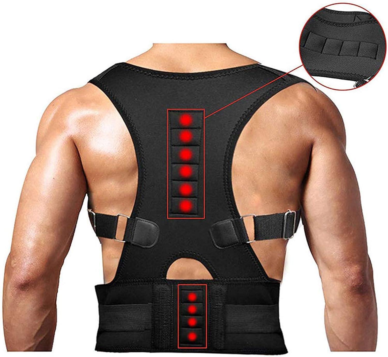 Back Posture Corrector, Adjustable Shoulder Straps, Adult Spine Back Correction Belt, AntiHump Artifact,XL