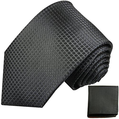 Cravate homme noir ensemble de cravate 2 Pièces (longueur 165cm)