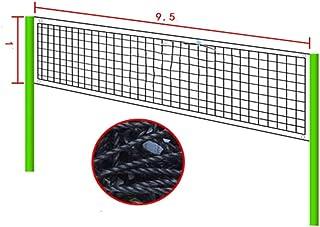 Sivenke Filet de volleyball pliable pour volleyball Taille standard Int/érieur Ext/érieur Jardin Plage Volleyball Sport Filet avec sac de transport 9,5 m x 1 m