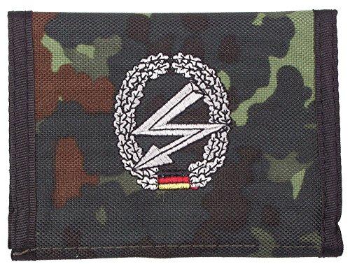 portefeuille, nylon, BW camo, w/ins., logo , Couleur:flecktarn/Fernmelder