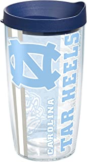 Tervis 1221250 North Carolina Tar Heels College Pride Tumbler with Wrap and Navy Lid 16oz, Clear