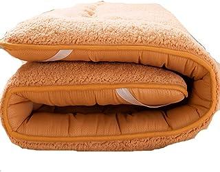 Colchones enrollables para cama de invitados, colchón de coche, colchón, colchón, colchón, colchón, cama de camping (marrón) (color: marrón, tamaño: 60 x 120 cm)