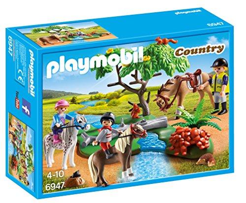PLAYMOBIL Granja de Ponis - Paseo de Ponis en el Campo (6947), Multicolor