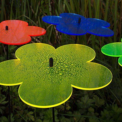 """SUNPLAY """"Sonnenfänger Blumen"""" im FARBMIX, 5 Stück zu je 10 cm Durchmesser im Set + 35 cm Schwingstäbe - 5"""