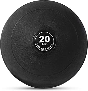 Weighted Slam Ball by Day 1 Fitness – 9 Weight and 3 Color OPTIONS - No Bounce Medicine Ball - Gym Equipment Accessories for High Intensity Exercise, Functional Strength Training, Cardio, Crossfit