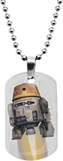 """Star Wars Jewelry Boys' Rebel Chopper Dog Tag Chain Pendant Necklace, 16"""""""
