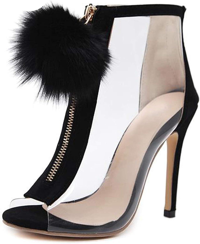 Women Gladiator Sandals shoes Woman Stilettos Cross Strap Peep Toe Pumps High Heels,Black,9