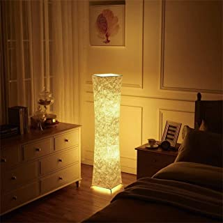 IpowerBingo Natural Fabric Originality Led Floor lamp Softlighting Home Minimalist Design Mood Lighting 2 Led Bulbs Included 10 x 10 x 52-Inch Christmas Gifts