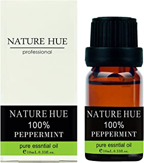 Nature Hue - Peppermint Essential Oil 10 ml, 100% Pure Therapeutic Grade, Undiluted