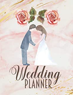 Wedding Planner: Complete Wedding Planning Checklist Book & Organizer For The Bride With Pink Marble Cover