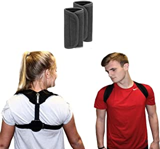 Uniqua Craft Premium Posture Corrector for Women & Men,  Corrects Slouching,  Relieves Upper Back & Shoulders Pain,  Hunching & Bad Posture,  Thoracic Kyphosis Brace - Bonus Underarm Pads