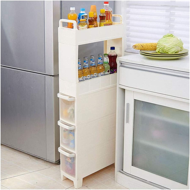 Kitchen Storage Shelf Refrigerator Kitchen Living Room Storage Rack Mobile Crevice Rack Floor Multi-Storey Narrow Storage Shelf Organisation