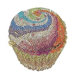 #5 Cupcake Crystal Minaudiere Clutch Purse