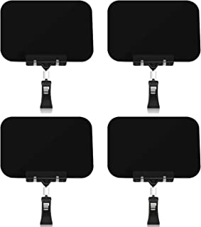 Mlici Black Plastic Chalkboard Clips, 4 Pack Pop Clips-on Style Sign Holder for Liquid Chalk Marker, Food Label Display Ro...