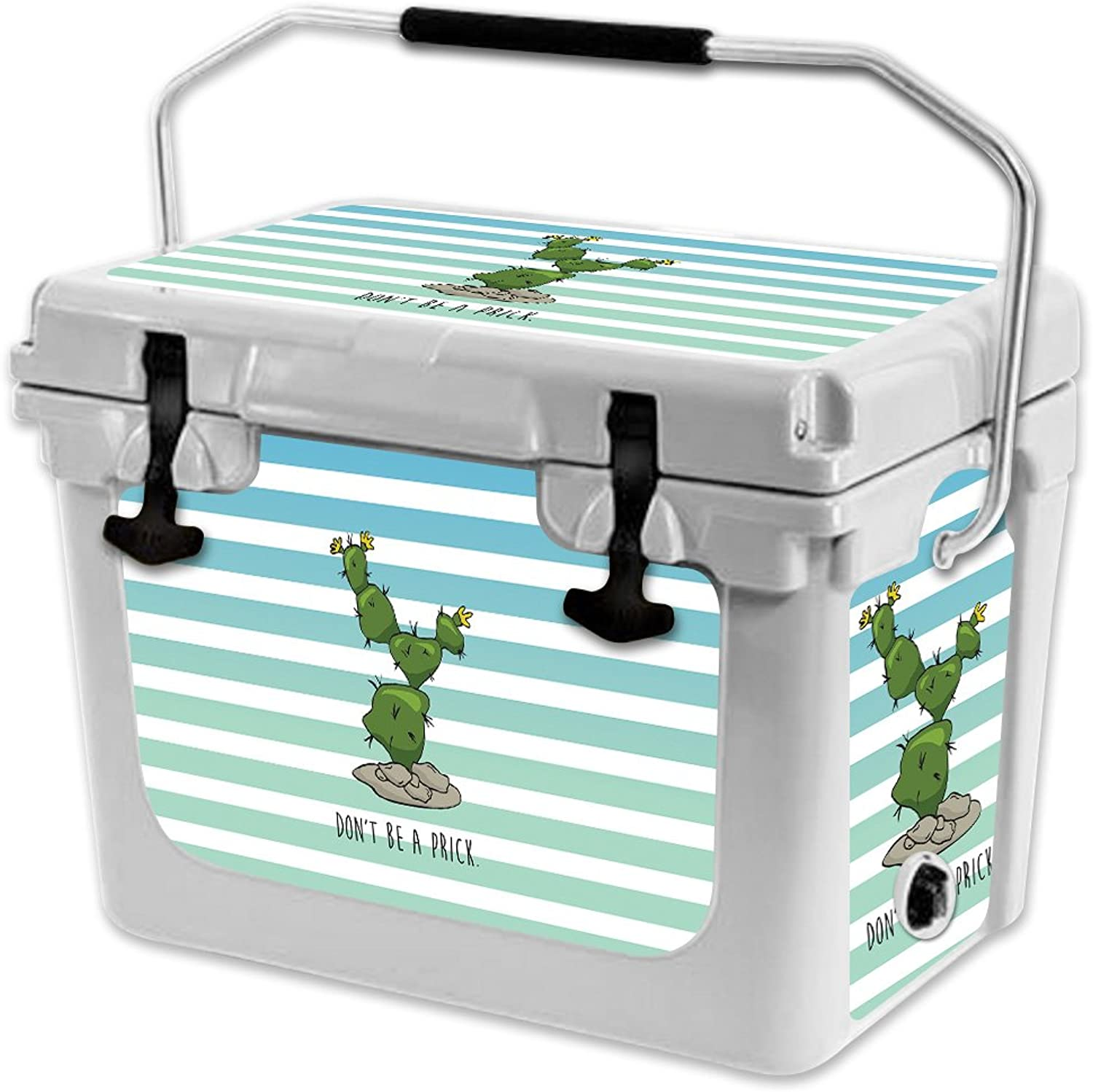 MightySkins Skin Compatible with RTIC 20 Cooler (2017 Model)  Happy Cactus   Predective, Durable, and Unique Vinyl Decal wrap Cover   Easy to Apply, Remove, and Change Styles   Made in The USA