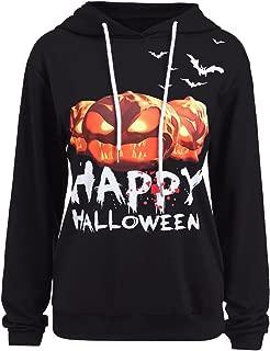 Women Halloween Shirt Funny Pumpkin Costume Long Sleeve Sweatshirt Hoodie Top