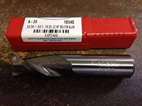 3//8 4 flute carbide end mill 1204375 7//8 LOC Single End