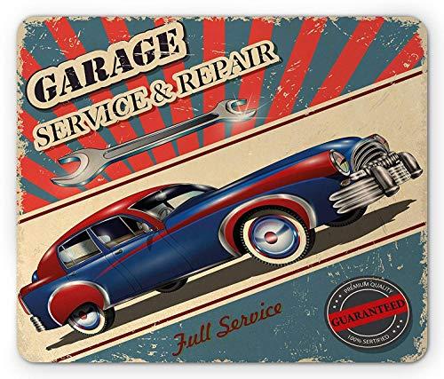Alfombrilla de ratón Man Cave, mecánico de reparación y servicio de garaje...