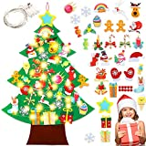 Sunshine smile 45pcs Arbol de Navidad de Fieltro DIY, 3.28ft Fieltro Árbol De Navidad DIY para Pared,Regalos Colgantes de Navidad de la Pared,Las Decoraciones de la Navidad