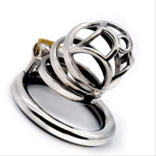 YDSXH Environmentally Friendly Material Male Diamond Stainless Steel Chastìty Lock Metal Series Dog Slave Private Delivery Shoes T-Shirt (Size : 45mm)