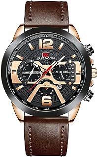 Sponsored Ad - Luxury Mens Analog Quartz Wrist Watch Waterproof Leather Strap Dress Watches