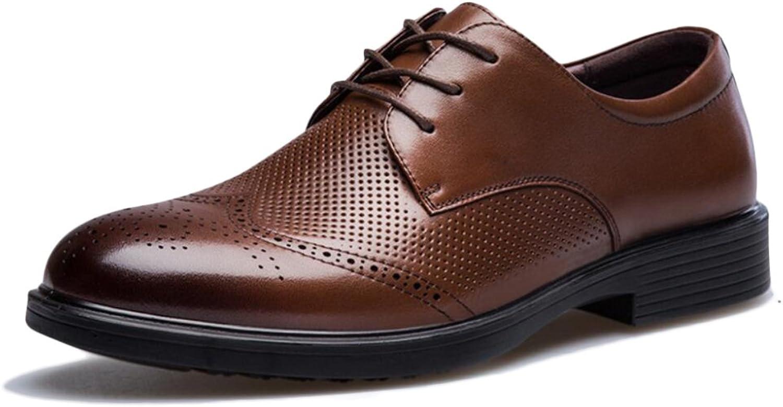 Yra Männer Schuhe Sommer Classic Bullock Leder Herren Leder Business Casual Breathable Freizeitschuhe Für Arbeit Büro B07CWW4Z21  | Erschwinglich