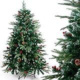 Gotoll Albero di Natale Artificiale 120cm 770 Rami,PVC Ago di Pino Effetto Realistico,Decorazione di Natale,Base Metallica(Verde)