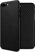 doupi UltraSlim Funda para iPhone 8 Plus / 7 Plus (5,5 Pulgadas) Carbon Fiber Look Fibra de Carbono Óptica, Finamente Estera Ligero Estuche Protección, Negro