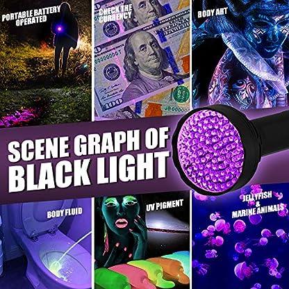 Anipaw Black Light UV Flashlight, Portable 100 LED UV Light Blacklight Detector for Pet (Dog/Cat) Urine Detection, Pet Stains, Bed Bug, Matching with Pet Odor Eliminator 2