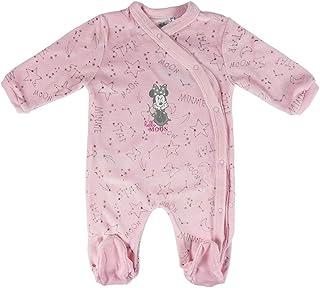Artesania Baby-Mädchen Pelele Velour Minnie Strampler, Pink Rosa C07, One Size Herstellergröße: 03M