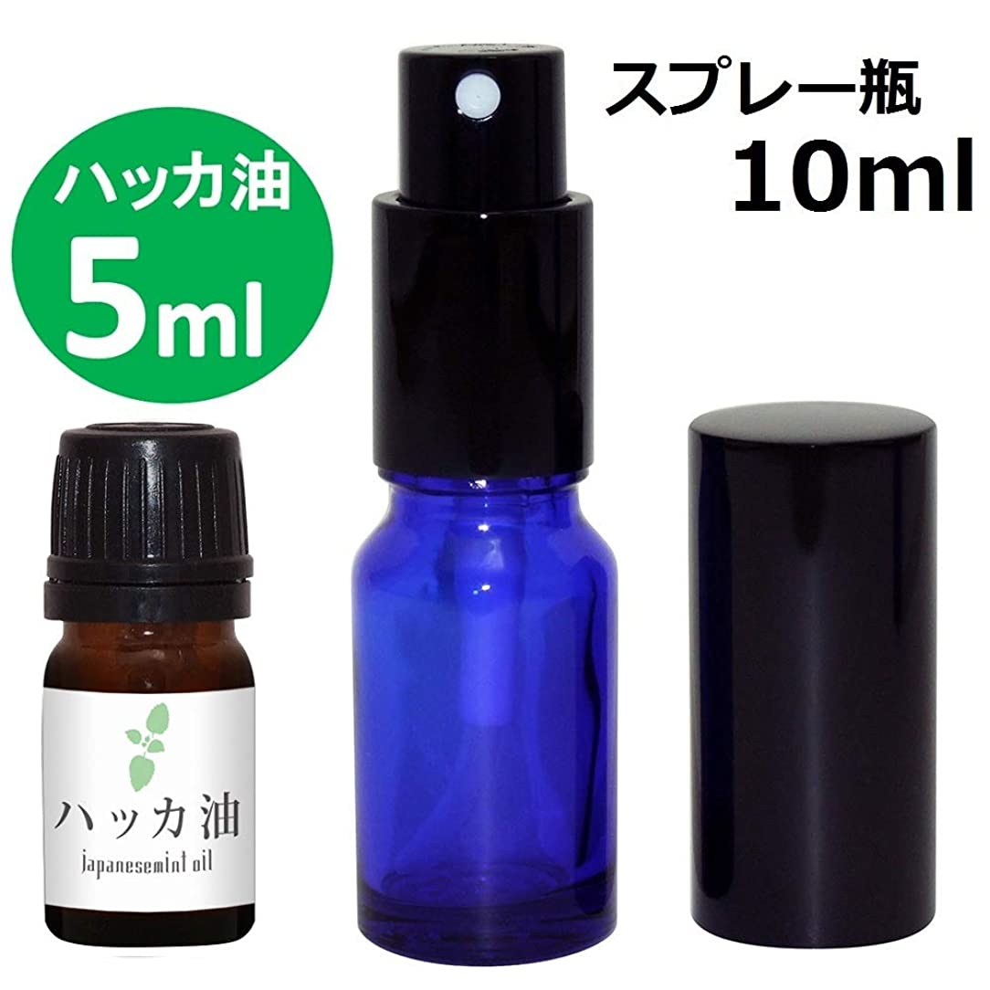 ファウル敏感な分注するガレージ?ゼロ ハッカ油 5ml(GZAK11)+ガラス瓶 スプレーボトル10ml/和種薄荷/ジャパニーズミント GSE532