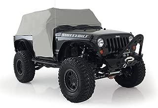 Smittybilt 1061 Gray Water-Resistant Cab Cover with Door Flap