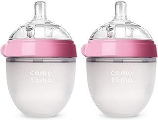 Comotomo奶瓶,粉色 5oz(约148ML),2只装 【由亚马逊海外卖家 Meivita美国直邮】
