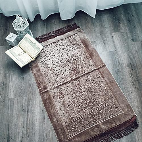 Ilm Verlag Alfombra de oración ortopédica con suelo de piel (gris)