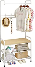 Clothes Cloth Rack Hanger Garment Portable Shoe Rack Hat Hook