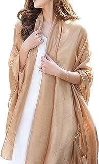 Silky Wrap Scarf Chiffon Oversized Sunscreen Beach Scarves for Women Stole Shawls